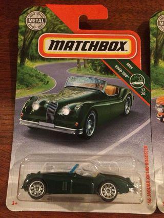 Matchbox toy cars lot of three, jaguar bmw lotus