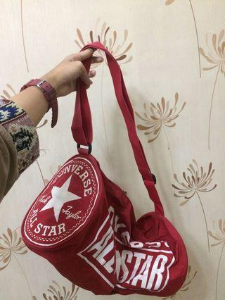converse red sports duffel bag