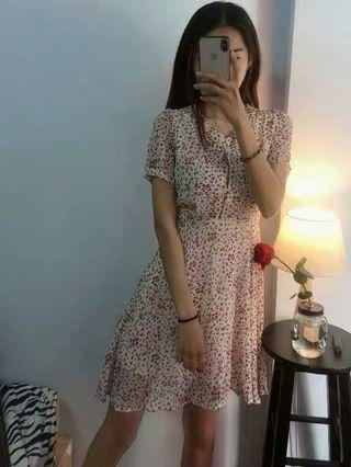 復古碎花連身裙 vintage floral dress