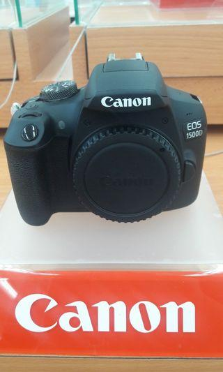 Canon camera DSLR 1500D cicilan tanpa kartu kredit DP hanya 10%!!