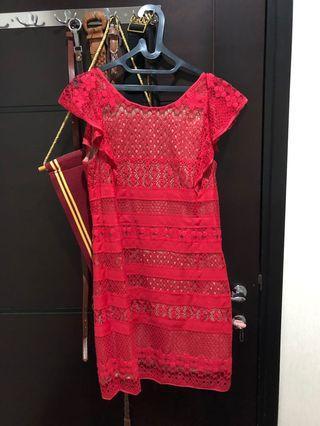 BCBG lace mini dress