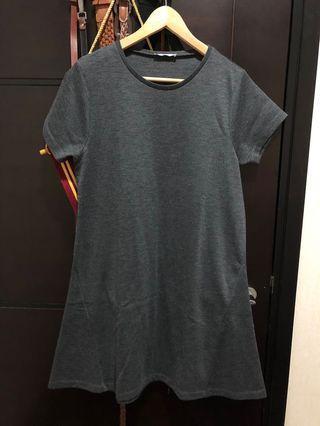 ZARA midi grey dress