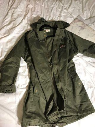 Kenji - khaki green winter parka/ coat