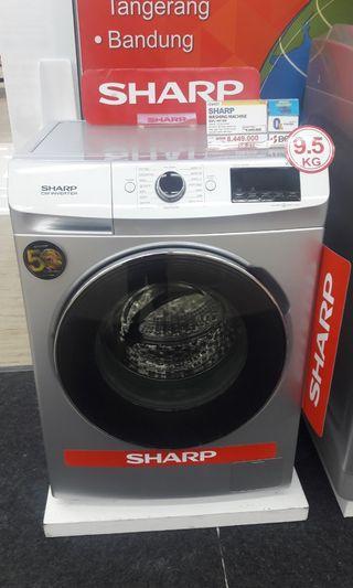 Mesin cuci SHARP CICILAN Tanpa Kartu kredit DP hanya 10%+free 1x cicilan!!