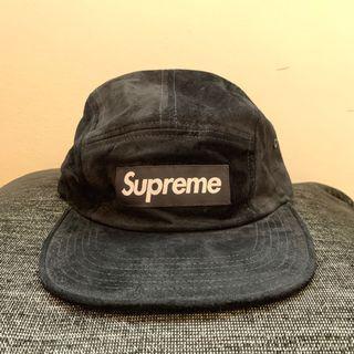 Supreme Camp Cap Black Suede