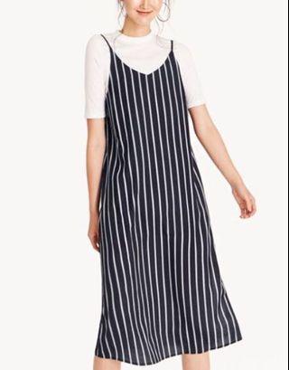 TEM Striped Slip Dress (WHITE)