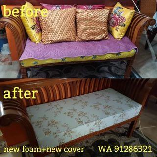 Sofa Seat foam & cover & cushion MAKE OVER **Not upholstery