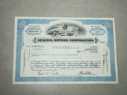 1978年美國股票1張