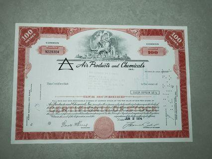 1974年美國股票1張