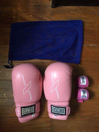 Excalibur Boxing Gloves with Free Everlast Handwraps