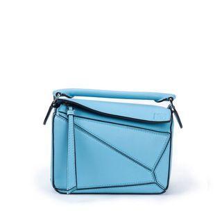 Loewe Mini Puzzle Bag (Lagoon Blue)