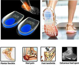 1 Pair Heel Support Insole Plantar Fasciitis Inserts Silicon Feet Orthopedic Cushion Pain Relief for $9.90.