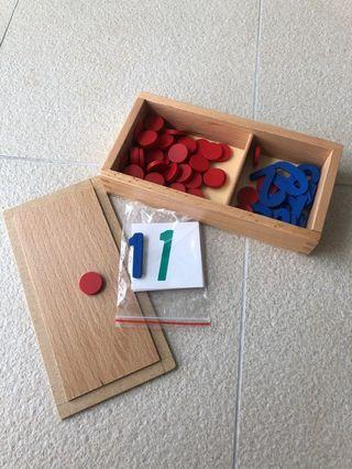 Montessori Wooden counting numbers