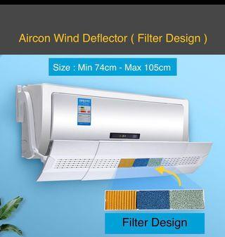 BN Aircon Wind Deflector Filters Design retractable 74-103cm