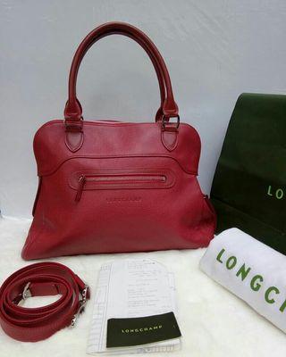 Long Champ Satchel Leather Authentic