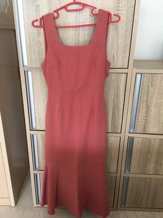 🚚 Palma Tie-Back Dress ( Mulberry )