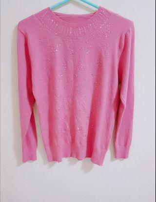 🚚 🆕粉色針織上衣