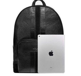 COACH 49334 新款男士後背包 底部手工編織裝飾 做工精緻 內置筆電隔層 容量大 附購證