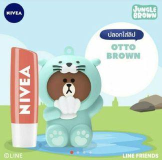 🚚 NIVEA Peach Lip Balm with Line Holder