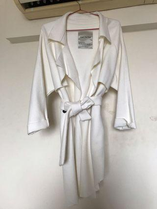 正韓Sara boutique 90%羊毛薄款手工大衣