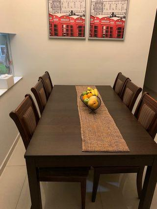 IKEA 8 seater dining table with chairs