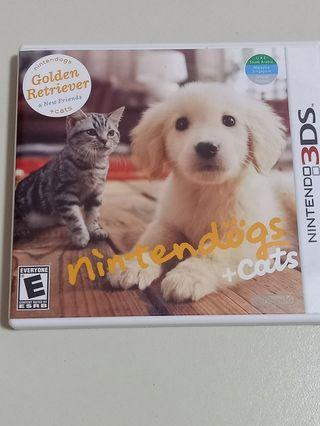 Nintendo 3DS|3ds Games- Nintendogs & Cats Golden Retriever
