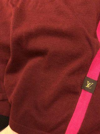 專櫃正品 Lv 無袖上衣 酒紅色