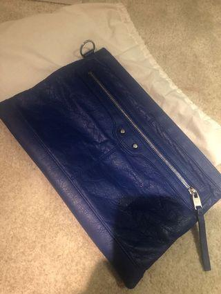 專櫃正品巴黎世家 藍色手拿包
