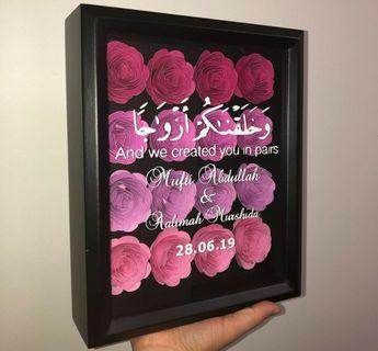 Flower Papers in Frame