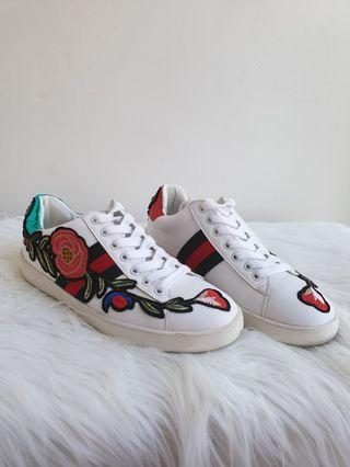 Gucci Inspired Embroidered Shoes