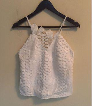 MDS lace tulip top