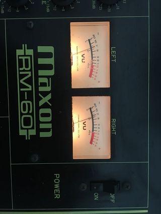 Maxon rm 60 mixer 混音器日本製造 made in Japan