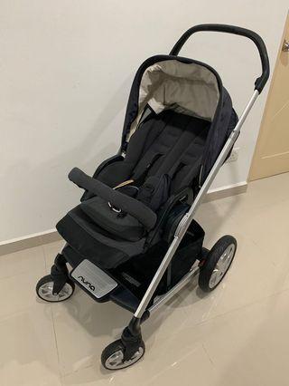Nuna Mixx (Slate) stroller with 1x Free stroller liner