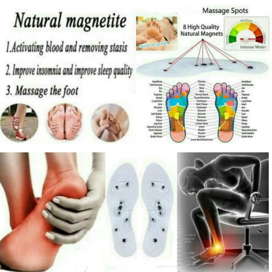 Anti-Odor Slimming Acupressure Magnetic Massage Shoe Insoles High Quality VE