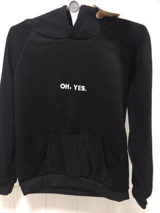 Oh, yes black hoodie (ins)
