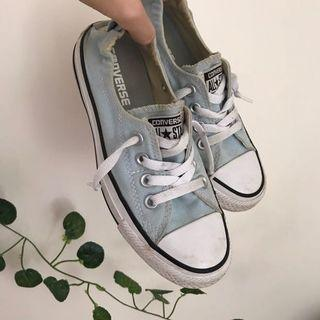 baby blue low converse