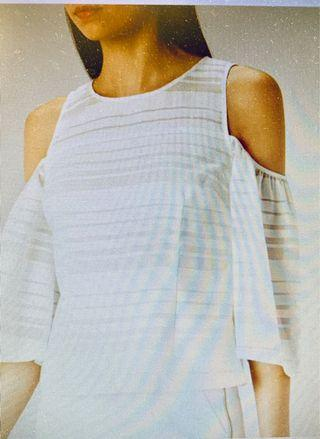 White textured blouse (Coast) XS