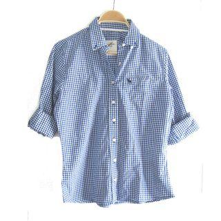 Abercrombie Blue Checkered Collared
