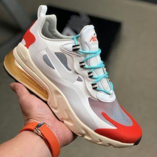 Nike REACTAIRMAX 瑞亞270氣墊 react270 希望 貨號:AT6174-200 白橘紅