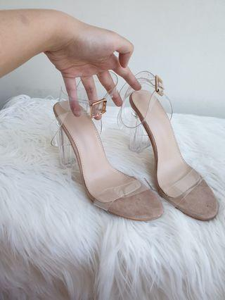 Yeezy Inspired Transparent Heels