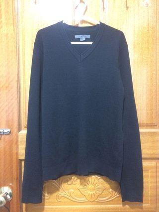 G2000質感黑色針織毛衣 厚度剛好