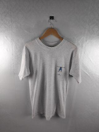 Vtg 90s Big John Usa Jeans Single Stitch Tshirt