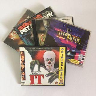 SET OF 5 Orig VCD Stephen King Movies Horror Suspense Thriller