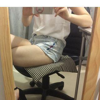 CACO-淺牛仔熱褲/短褲