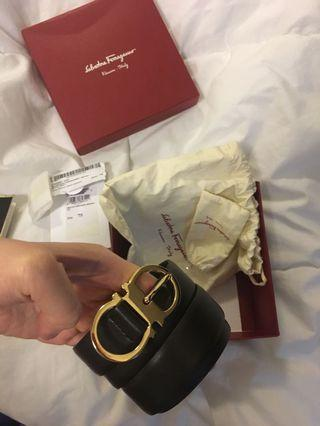 CHEAP!!! Never been used authentic Salvatore ferragamo belt size 75