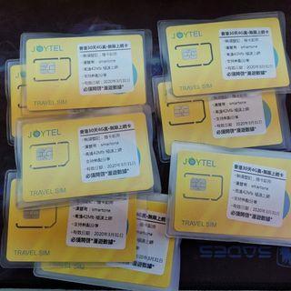 終極神卡 30日 本地無限4G joytel 香港30日 無限上網 smartone 30天 全速4G 不限速 最高42mb 下載