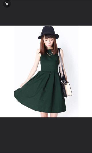 🚚 AFA Forest Green Dress