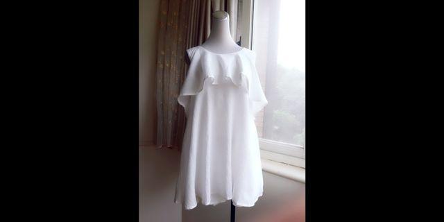 日本vivi品牌dazzlin 純棉 復古荷葉高腰連身褲