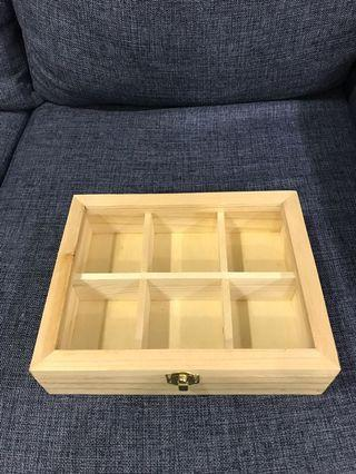 Wooden 6 divider casement box