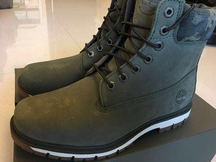 (豪雨來襲降價)全新Timberland6吋輕量深綠色防水靴(美碼9M)